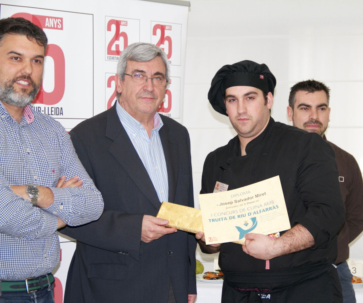 Salvador gana el Concurso de Trucha de Río de Alfarràs