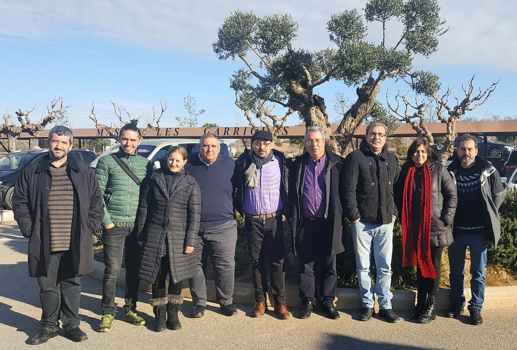 Gastronomic journalists in Les Garrigues