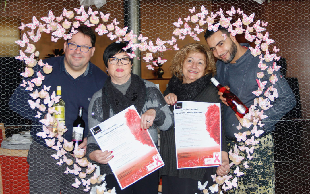Sant Valentín solidario con Adima, en el Mirador dels Camps Elisis