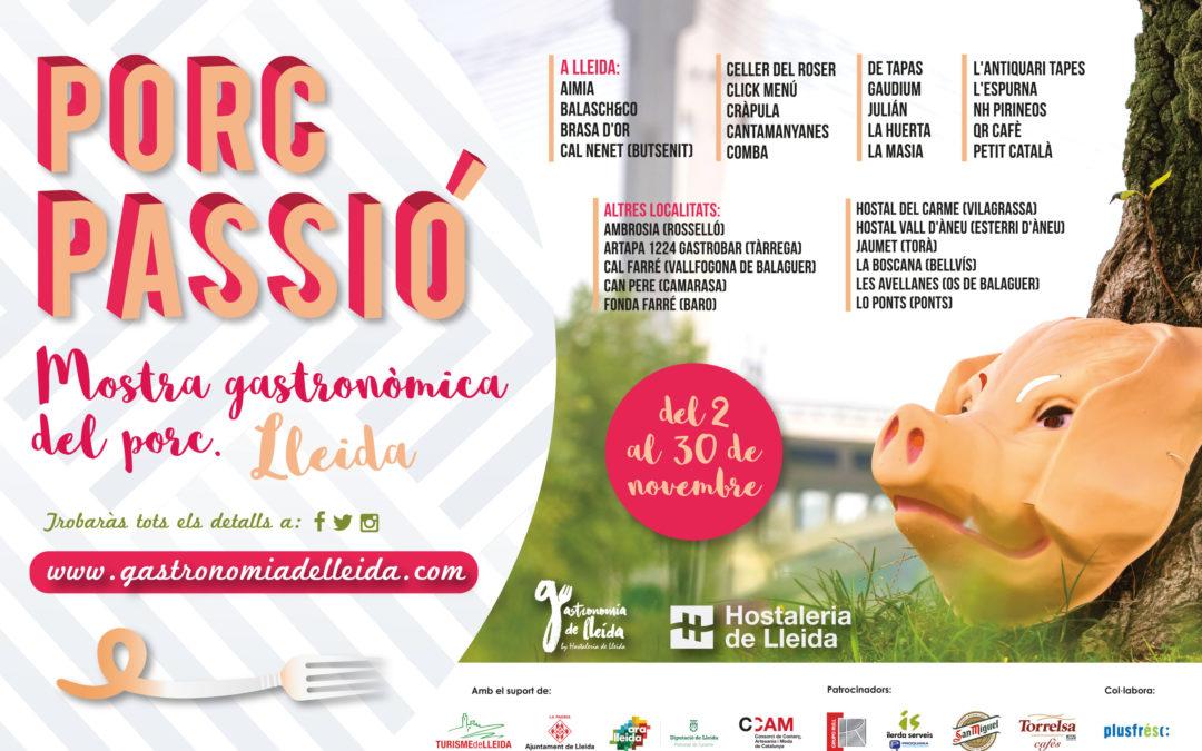 Nova campanya de la mostra Porcpassió amb 30 restaurants de Lleida