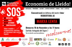 Hostaleria de Lleida convoca un acte de mobilització empresarial a Lleida pel dimecres 18 de novembre